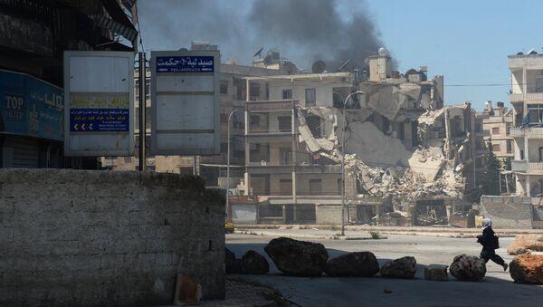Militants shell a district in Aleppo. File photo - Sputnik Mundo