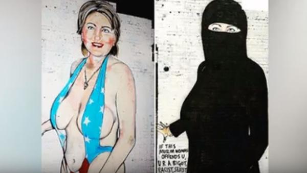 Hillary Clinton en niqab - Sputnik Mundo