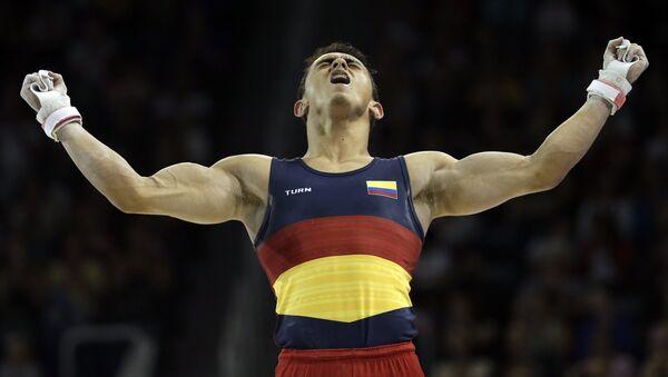 Jossimar Calvo, gimnasta colombiano (archivo) - Sputnik Mundo