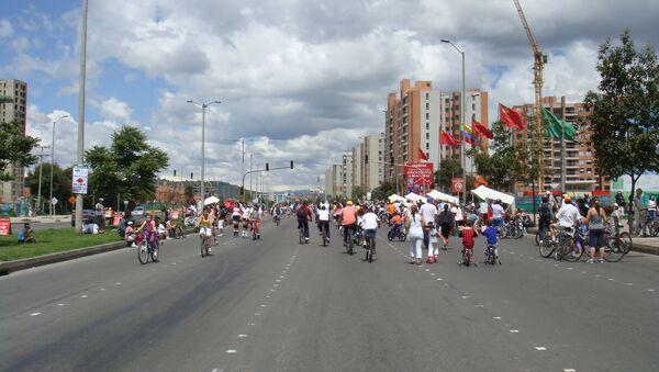 Ciclistas en Bogotá (archivo) - Sputnik Mundo
