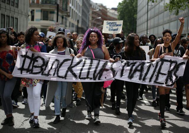 El colectivo Black Lives Matter monta protestas en Inglaterra