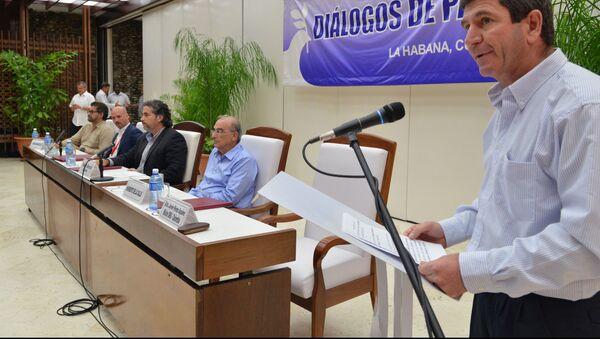Las delegaciones de paz del Gobierno de Colombia y de las FARC - Sputnik Mundo