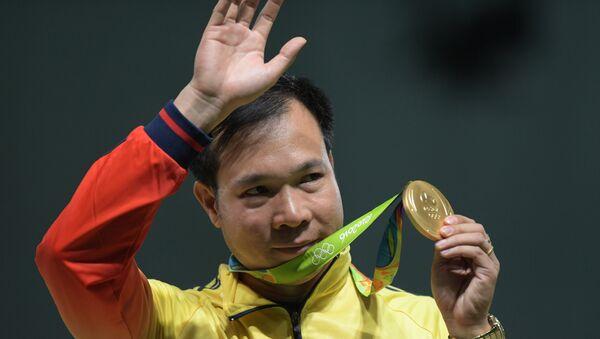 Hoang Xuan Vinh, medallista de oro en tiro de pistola de aire de 10 metros en los Juegos de Río de Janeiro 2016 - Sputnik Mundo