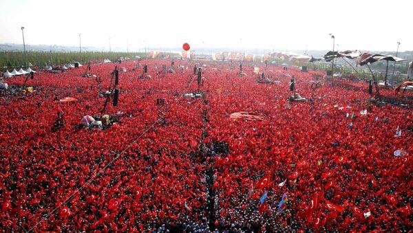 El mitin por la democracia en Turquía - Sputnik Mundo