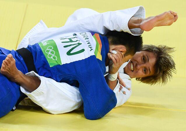 La judoca rusa Natalia Kuziutina venció ante la china Ma Yingnan