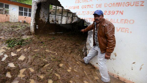 Efectos de las tormenta tropical 'Earl' en Veracruz - Sputnik Mundo