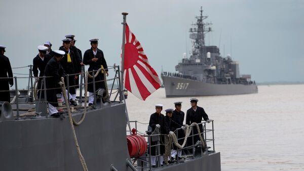Buques de la Fuerza Marítima de Japón - Sputnik Mundo