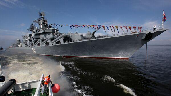 El crucero ruso Variag en Vladivostok - Sputnik Mundo