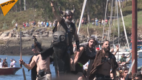 Romería Vikinga: guerreros nórdicos invaden España - Sputnik Mundo