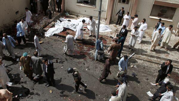 Ciudad de Quetta en Pakistán tras el atentado - Sputnik Mundo