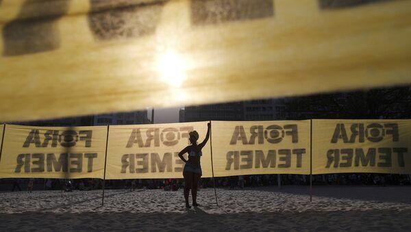 Protestas contra Temer en Juegos de Río 2016 - Sputnik Mundo