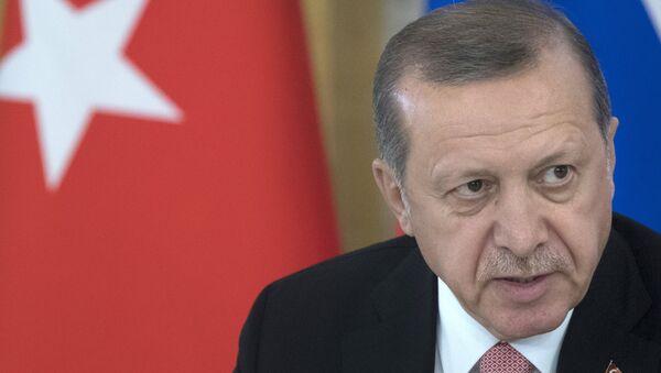 Встреча президентов России и Турции В. Путина и Р. Эрдогана в Санкт-Петербурге - Sputnik Mundo