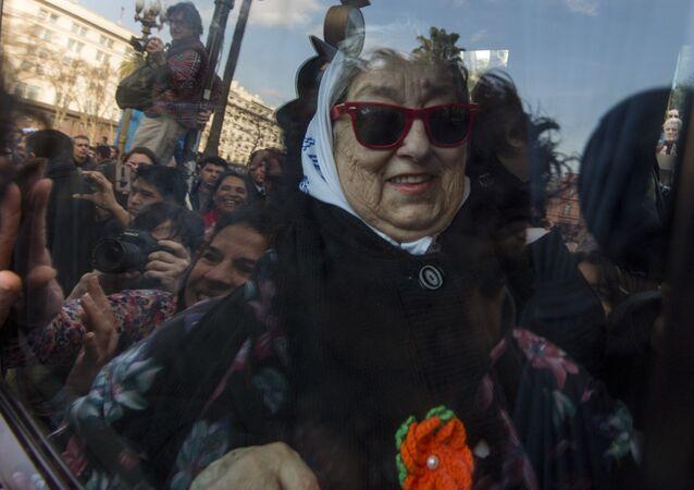 Hebe de Bonafini, presidenta de Madres de Plaza de Mayo