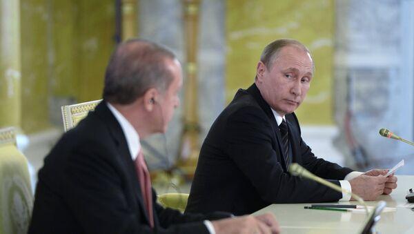 Presidente de Turquía, Recep Tayyip Erdogan y presidente de Rusia, Vladímir Putin - Sputnik Mundo