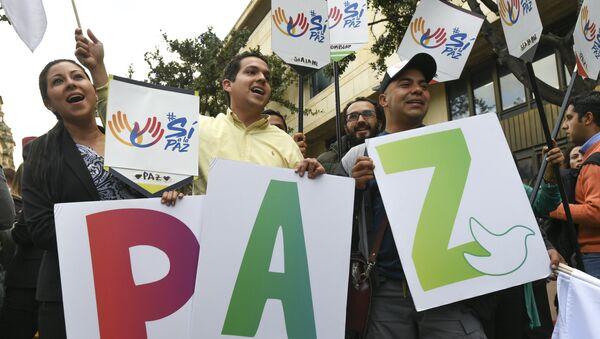 Manifestación pacífica en Bogotá - Sputnik Mundo