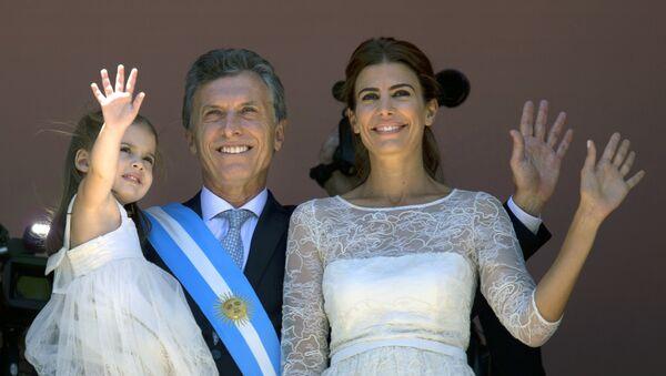 Mauricio Macri con su esposa Juliana Awada y su hija Antonia - Sputnik Mundo
