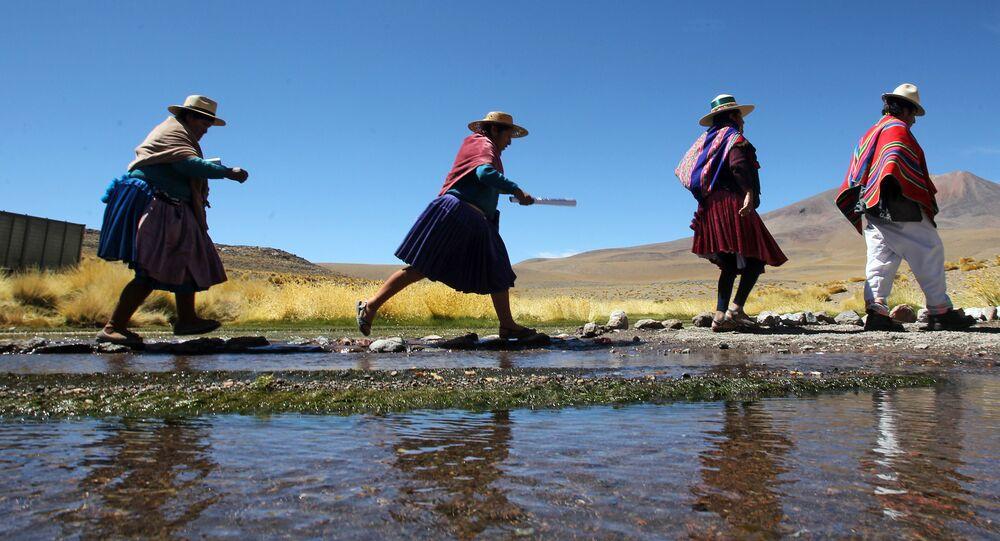 Indígenas aimará en Bolivia (imagen referencial)