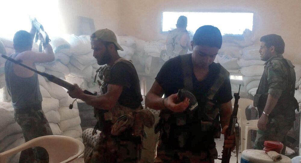 Militares sirios en Alepo