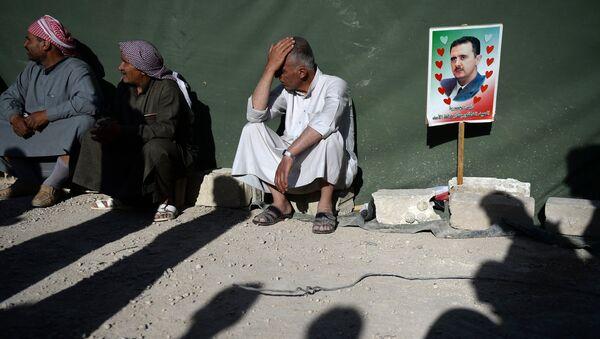 Partidarios de Bashar Asad en Siria - Sputnik Mundo