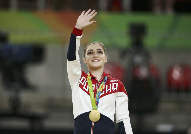 Aliya Mustafina, gimnasta rusa