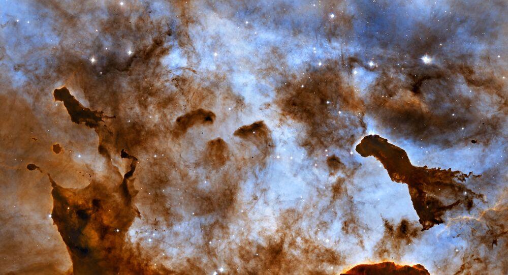 Una foto del espacio hecha por el telescopio espacial Hubble
