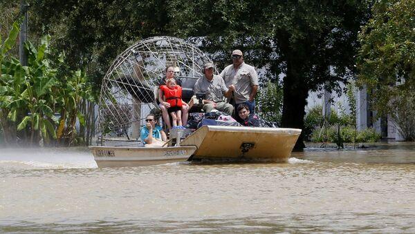 Inundaciones en Luisiana, EEUU - Sputnik Mundo