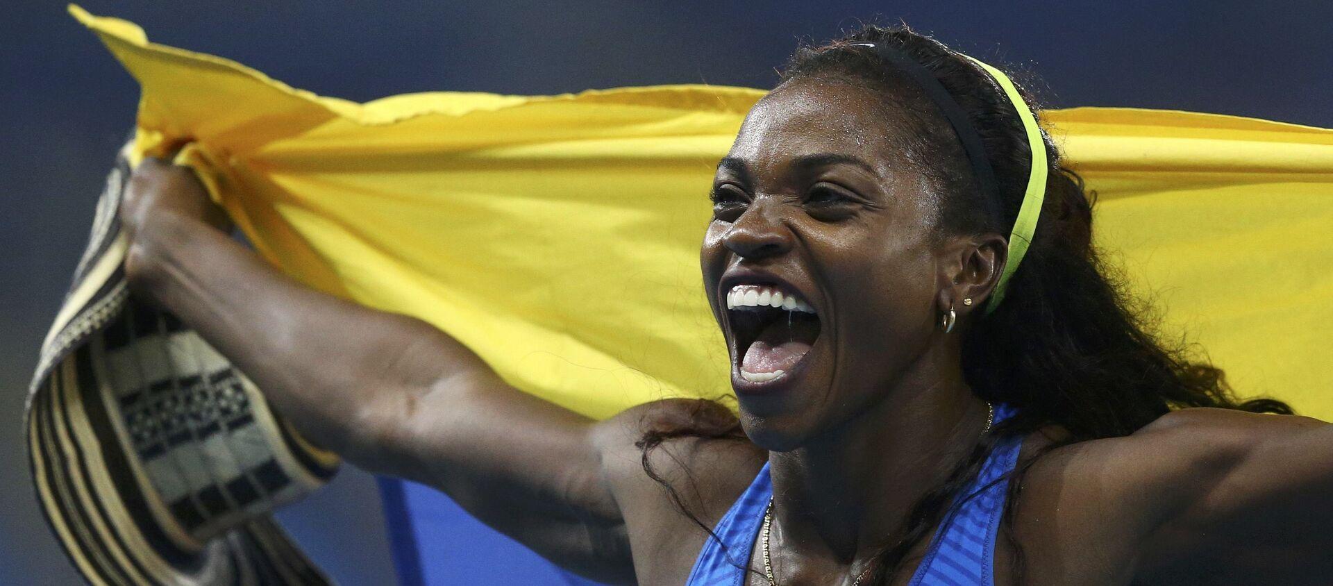 Caterine Ibargüen, atleta colombiana, medallista de oro olímpico - Sputnik Mundo, 1920, 16.08.2016