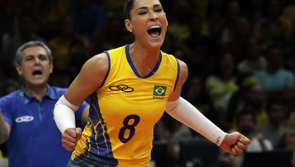 Jaqueline Carvalho durante los JJOO de Río 2016 - Sputnik Mundo