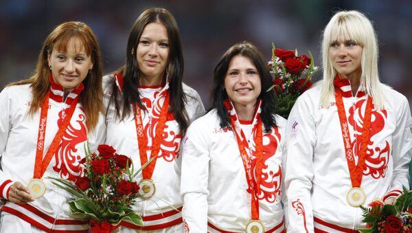 Selección rusa en los Juegos Olímpicos 2008 en Pekín en los relevos de 4 x 100 metros femenino - Sputnik Mundo