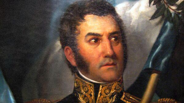 El retrato más canónico de José de San Martín. - Sputnik Mundo