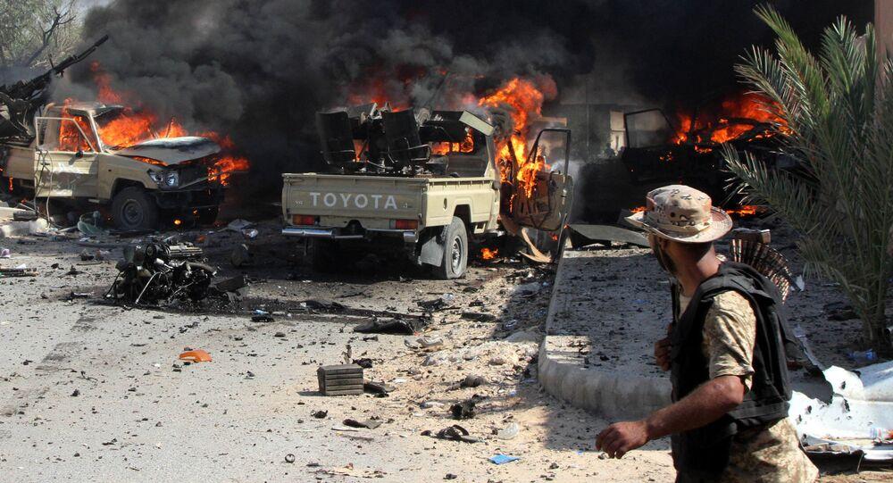 Combates en Libia (archivo)