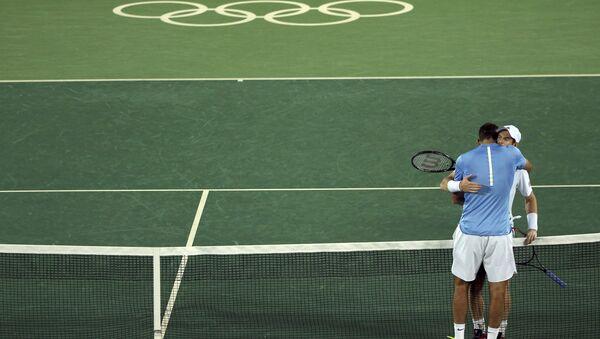 La final olímpica entre Murray y Del Potro - Sputnik Mundo