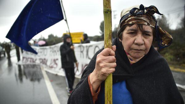 Protesta del pueblo indígena mapuche en Chile (archivo) - Sputnik Mundo