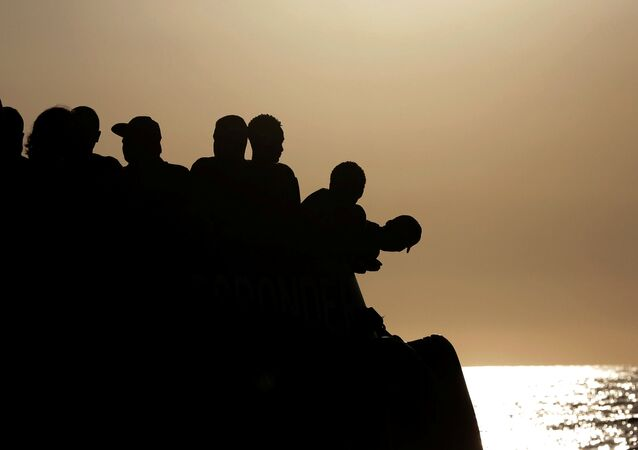 Unos migrantes (archivo)