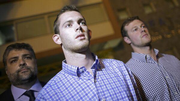 Nadadores estadounidenses Jack Conger y Gunnar Bentz - Sputnik Mundo