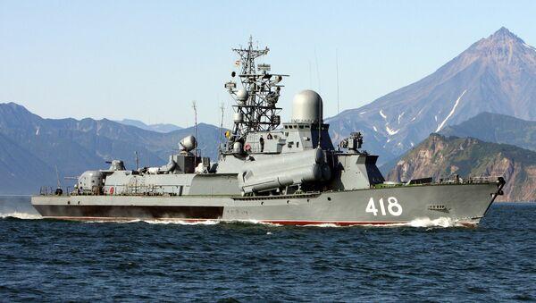 Buque portamisil de la Flota del Pacífico - Sputnik Mundo