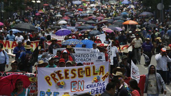 Protesta de los maestros en México - Sputnik Mundo