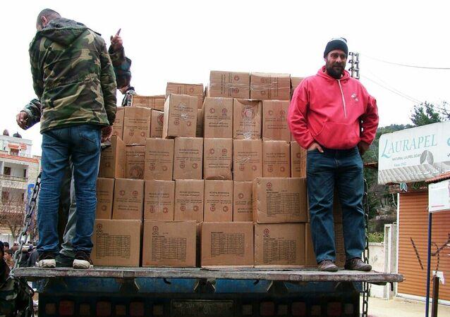 Rusia entrega ayuda humanitaria a Siria