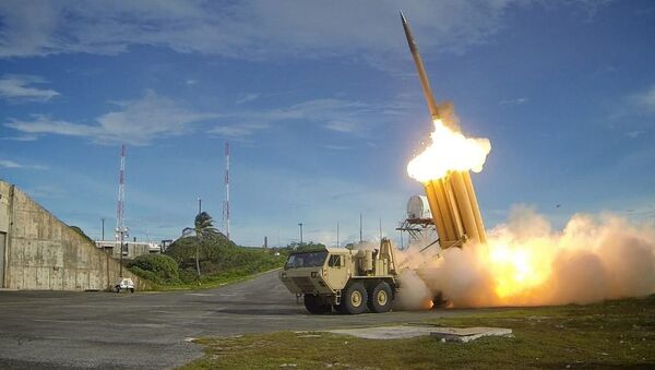 El sistema antimisiles THAAD, en acción (archivo) - Sputnik Mundo
