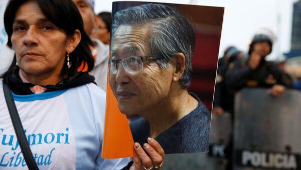 Una manifestación en apoyo del expresidente de Peru, Alberto Fujimori - Sputnik Mundo