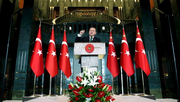 Recep Tayyip Eredogan, presidente de Turquía - Sputnik Mundo