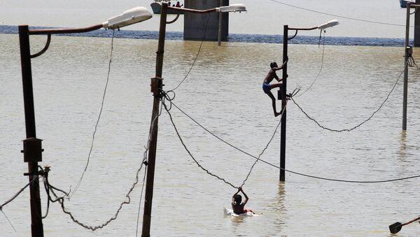 La inundación en India - Sputnik Mundo