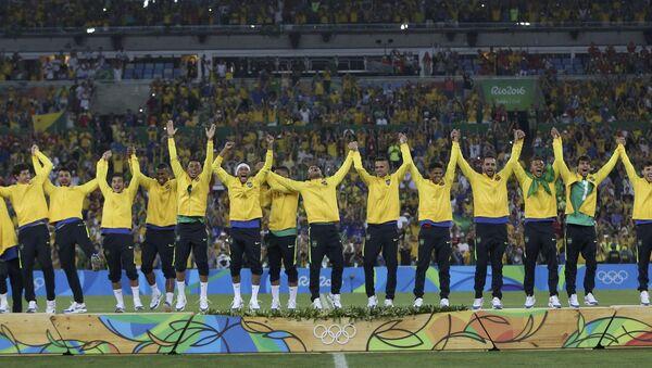 El equipo de fútbol de Brasil - Sputnik Mundo