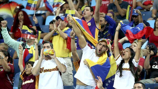 Hinchas de la selección venezolana en Río - Sputnik Mundo