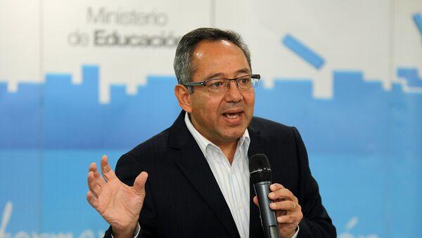 Augusto Espinosa, ministro de Educación de Ecuador - Sputnik Mundo