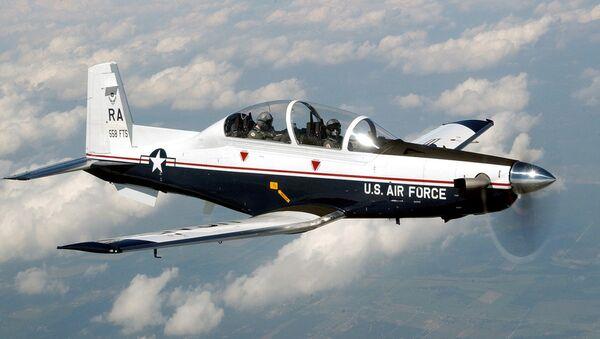 La aeronave estadounidense T6-C Texan II - Sputnik Mundo