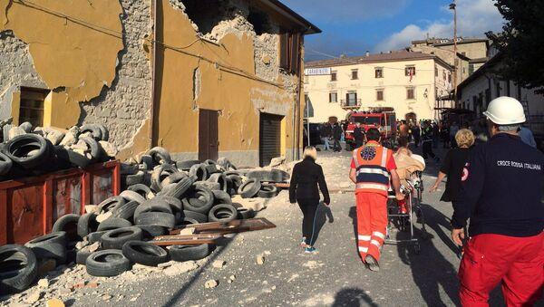 Situación en Accumoli di Rieti, Italia - Sputnik Mundo