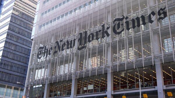 El edificio del diario The New York Times en Nueva York - Sputnik Mundo