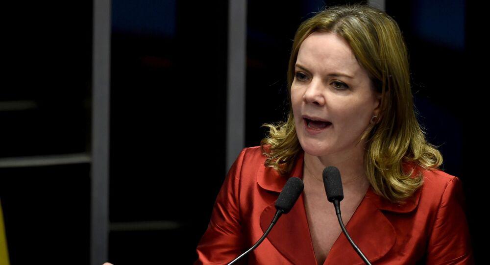 Gleisi Hoffmann, senadora del Partido de los Trabajadores (PT)