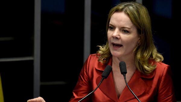 La presidenta del Partido de los Trabajadores (PT) de Brasil, Gleisi Hoffmann - Sputnik Mundo